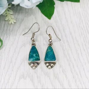 Southwest Turquoise Sterling Earrings